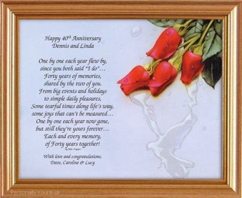30th Wedding Anniversary Card Verses by Happy Anniversary Poems Happy Anniversary Poems