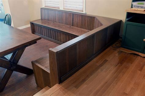 how to build a built in bench with storage hand crafted custom built in dining room bench seating by