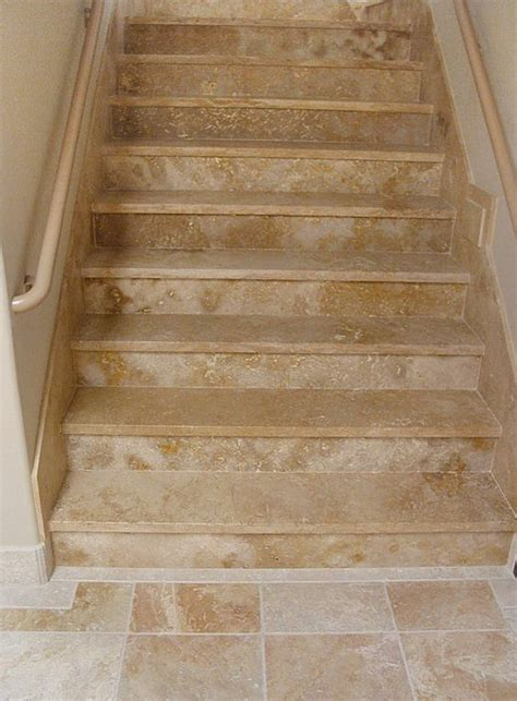 Tiles For Stairs Design Stairways Flooring Designs Sol Ancient Truly Tumbled Mexican Travertine Tiles Steps