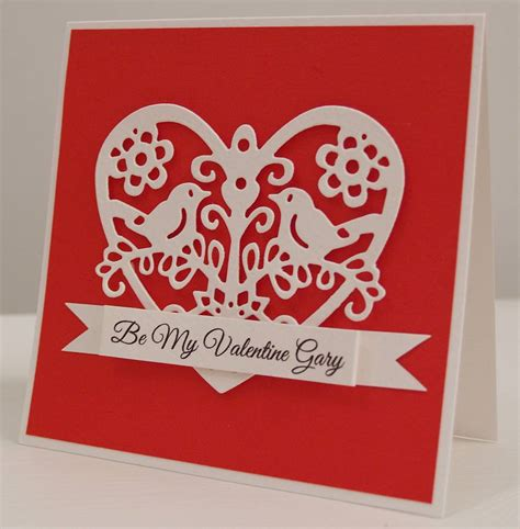 Handmade Valentines Card - personalised handmade birds s card by thoughts