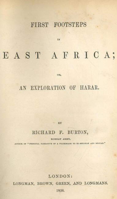 footsteps in east africa or an exploration of harar books footsteps in africa by richard francis burton