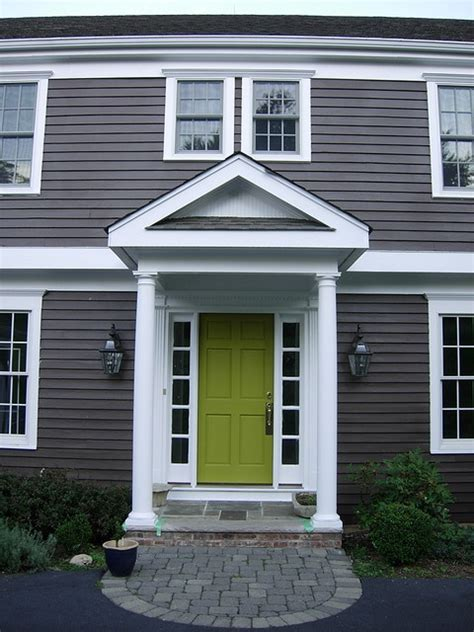 house with gray siding dark grey siding and green door entryway ideas pinterest blue doors grey and