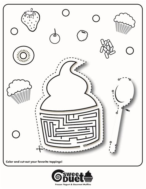 Coloring Page Yogurt by Sweetduet 174 Frozen Yogurt Gourmet Muffins Coloring Page