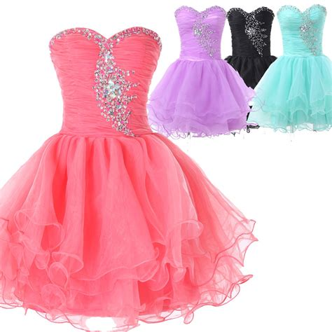 Teens Graduation Dresses Short Bridesmaid Wedding Guest Evening Gown Prom Dress   eBay