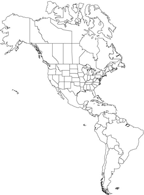 America Map Outline Printable by Americas Outline Map Worldatlas