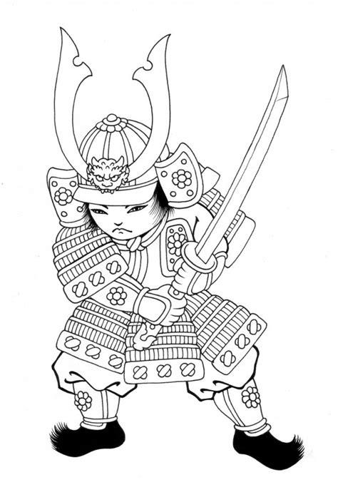 Nos jeux de coloriage Samourai à imprimer gratuit
