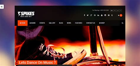 50 best wordpress themes for musicians singers bands