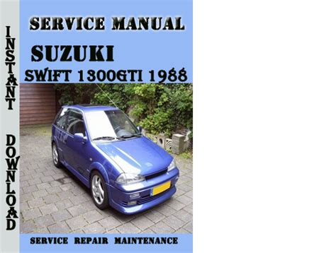 suzuki swift 1300gti 1988 service repair manual pdf download down