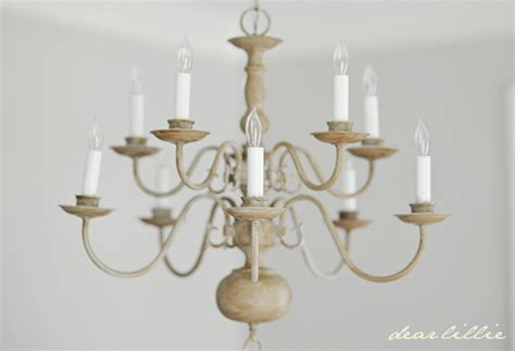 dear lillie a chandelier with chalk paint - Kronleuchter Gezeichnet
