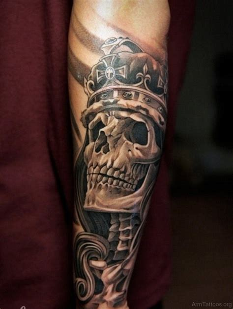 skull forearm tattoo designs 83 fancy skull tattoos for arm