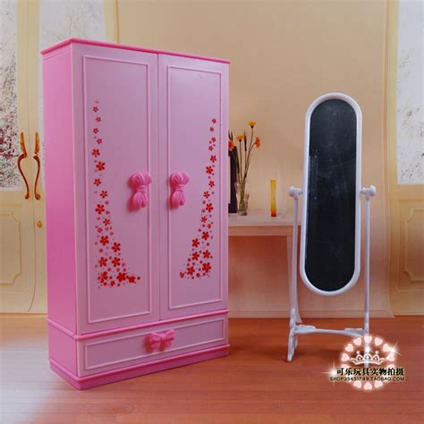 dollhouse mini furniture pink chest closet wardrobe