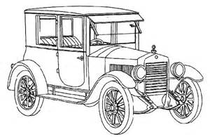 How To Draw Ford Model T Cars Sketch Coloring Page sketch template
