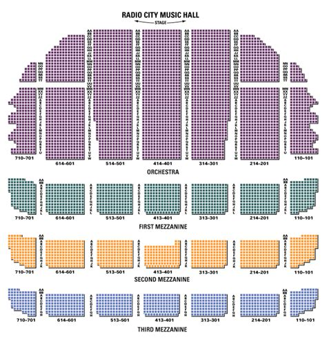 radio city seating plan radio city seating chart theatre in new york