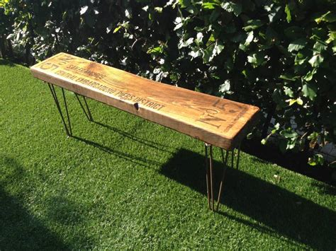 industrial style bench personalised retro industrial style bench by daughters of the revolution