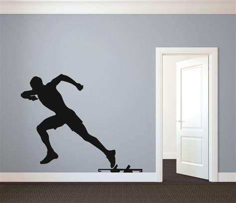 track runner sprinter silhouette sports wall decal custom