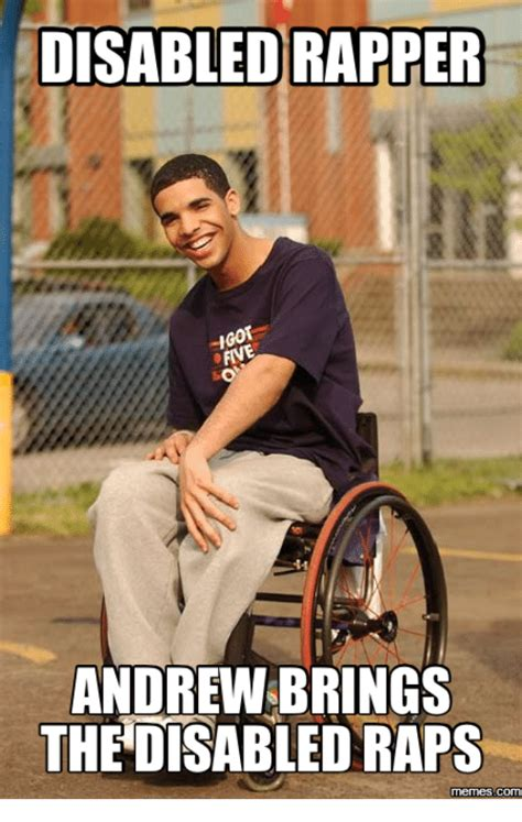 Disabled Meme - disabled rapper andrew brings th disabled raps memes com