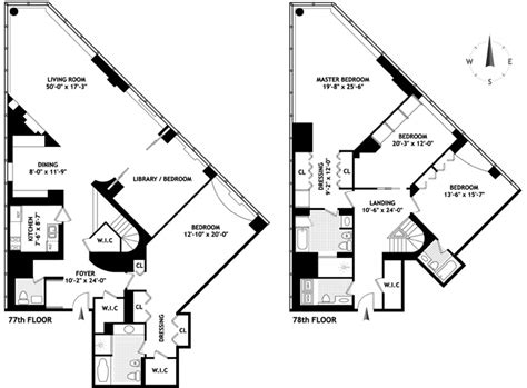 cool floor plans penthouses with unique floorplan in manhattan new york nyc real estate sales nyc hotel