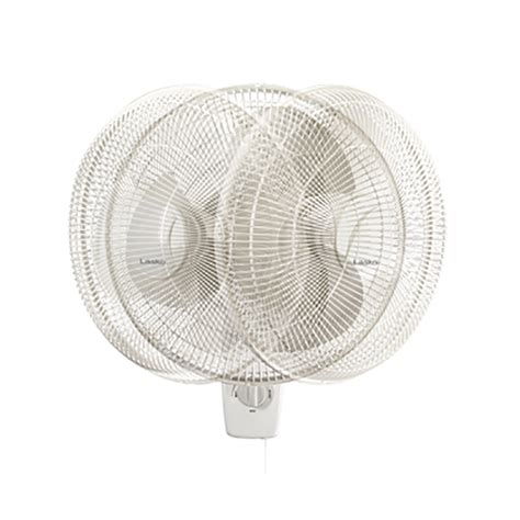 16 inch wall mount fan lasko 16 inch oscillating 3 speed 3 blade pull cord wall