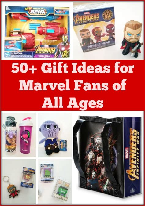 gifts for marvel fans 50 gift ideas for marvel fans of all ages