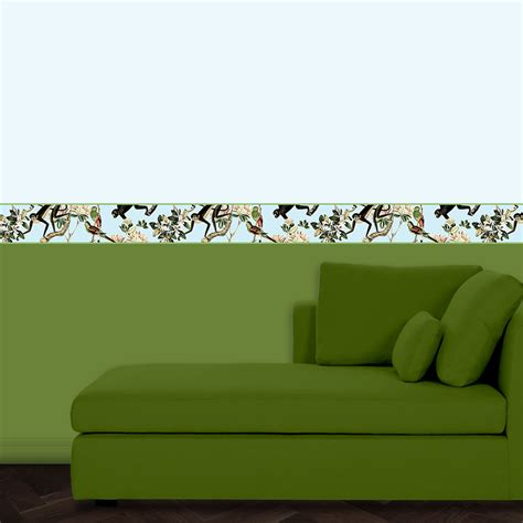 Wbs014 Blue Up 10 Cm Wall Border Sticker 10mx10cm Sale beautiful monkey wallpaper border countess of berlin