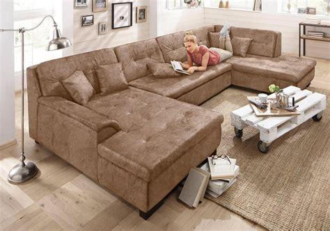 sofa mit ottomane und bettfunktion home affaire wohnlandschaft 187 bergen 171 wahlweise mit