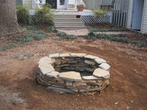 stacked pit 17 best images about firepits on glow