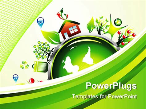 environment powerpoint template powerpoint template symbols of recycling and