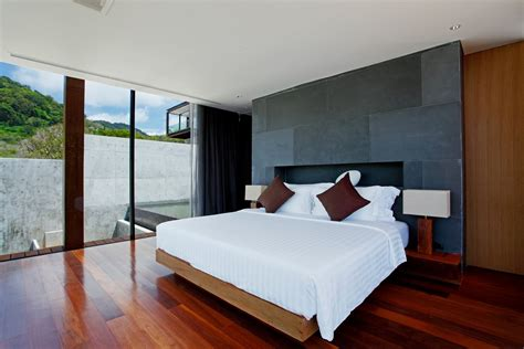 parquet flooring bedroom contemporary resort hotel naka phuket by duangrit bunnag