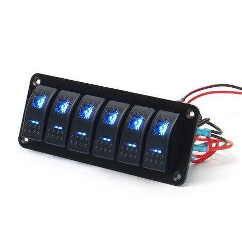marine switch panel canada 12v 24v 6 gang dual led light bar caravan marine boat rv