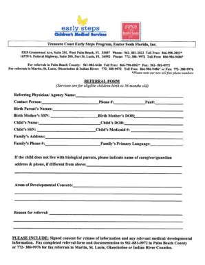 easter seals application form fillable treasure coast early steps program easter