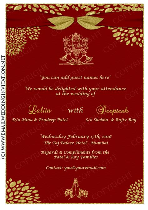design hindu wedding invitation card online free luxurious style wedding card design gold colored fonts