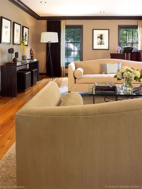 living room brown trim beige walls  dark brown trim