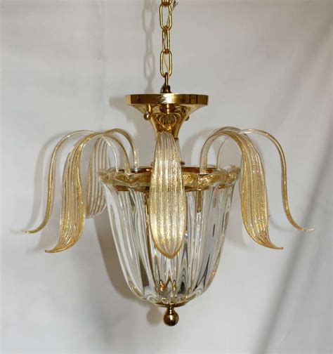 Gold Chandeliers For Sale Murano Glass Gold Inclusions Chandelier Or Pendant For