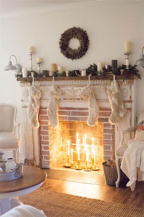 amerikanischer kamin weihnachten rustic neutral style series the