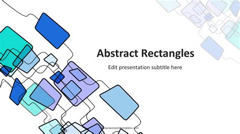 abstract rectangles powerpoint template powerpoint templates