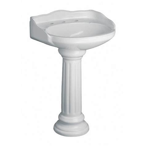 pegasus vicki 22 in pedestal combo bathroom sink in white