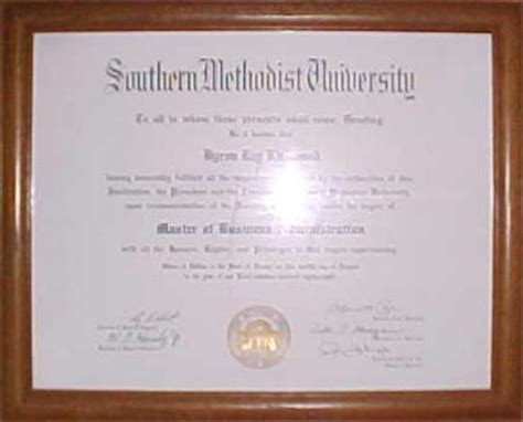 Southern Methodist Mba by The Kirkwood S Personal Information