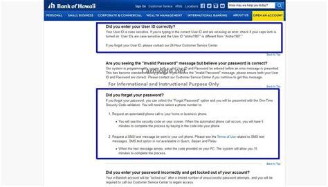 bank of hawaii credit card sign on bank of hawaii visa signature 174 credit card with mybankoh