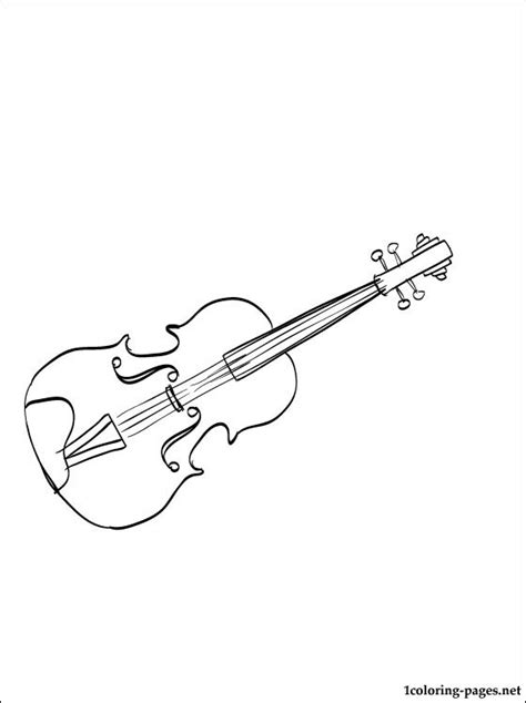 viola coloring page coloring pages