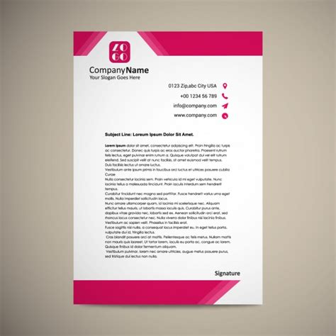 word design templates letterhead template design vector free