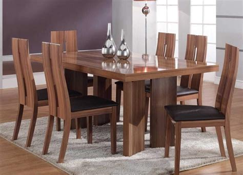 Modern Dining Room Tables Solid Wood Tedxumkc Decoration Real Wood Dining Room Furniture