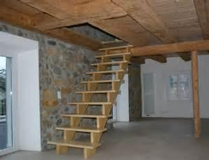 aufgesattelte treppe holzbau buehlmann treppen