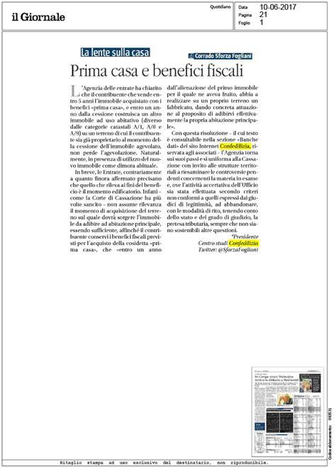 benefici fiscali prima casa il giornale 10 6 2017 prima casa e benefici fiscali