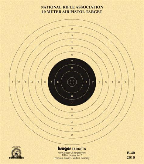 printable competition targets 10 meter air pistol target nra b 40 kruger premium