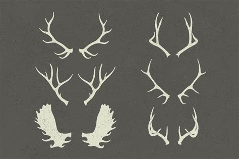 antler template free antlers template coloring pages