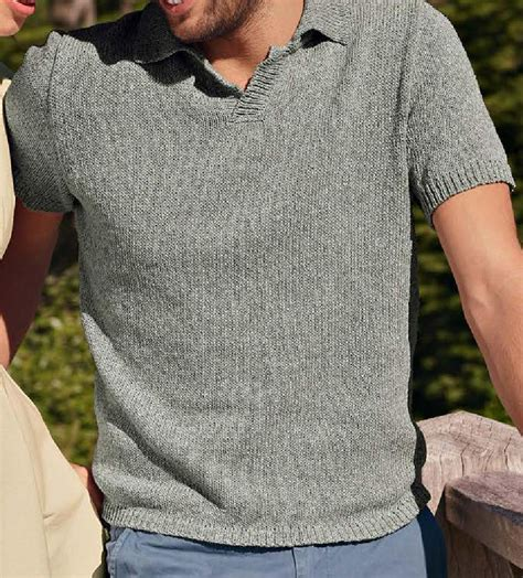 pattern shirt under sweater short sleeve polo shirt knitting pattern