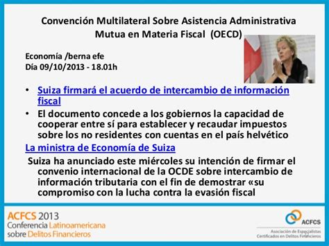 convenio multilateral de la ocde sobre asistencia administrativa mutua panel general 3 fatca