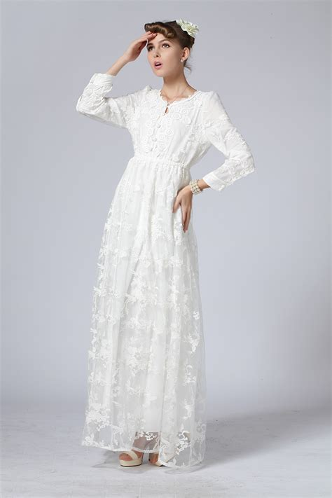 Lace Hook Flower Dress style noble lace embroidery hook flower