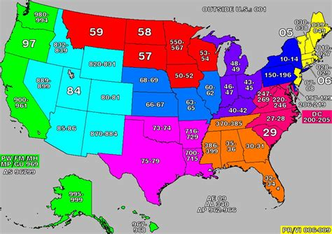 us area codes and zip codes us zip codes map united states