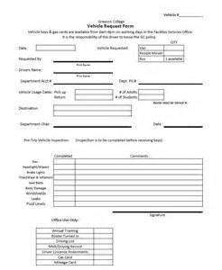 vehicle request form template doc request form meteor crater sle request form